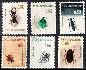 1966 Yugoslavia 1158-1163 Insects