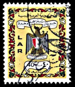 Libya 448, used, Libya Coat of Arms