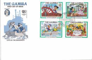 Gambia Scott 562-563, 565-566 Unaddressed.