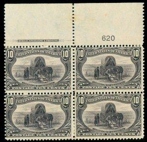 MOMEN: US STAMPS #290 PLATE BLOCK MINT OG H LOT #70098