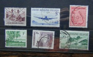 Cocos Keeling Islands 1963 set to 2/3 Used SG1 - SG6