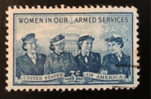 1013 Service Women,Circulated Single, Good condition, NH, Vic's Stamp Stash