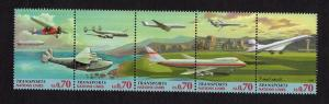 United Nations Geneva  #307-311  MNH  1997 air transportation strip of 5