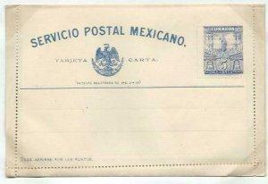 MEXICO 5c lettercard 1897 unused...........................................58736