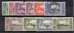 Sierra Leone 1938-44 values to 1s MH /FU CDS