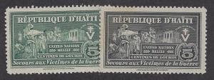 Haiti   Scott # RA3-4      Mint