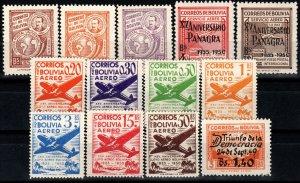 Bolivia #C125-137  F-VF Unused CV $5.50 (X950)
