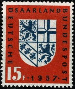 GERMANY SAAR 1957 SAAR RETURN TO GERMANY MINT (NH) P.13x13.5 SG 376 SUPERB