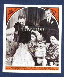TUVALU  - Scott 459  - FVF MNH  S/S - Queen Victoria -