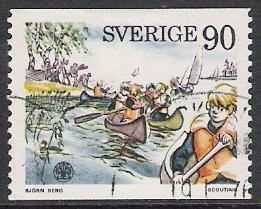 Sweden #1138 Boy Scouts Used