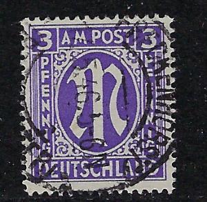 Germany AM Post Scott # 3N2b, used