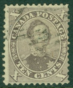 EDW1949SELL : CANADA 1859 Scott #17a Violet. Used. Fresh. Catalog $160.00.