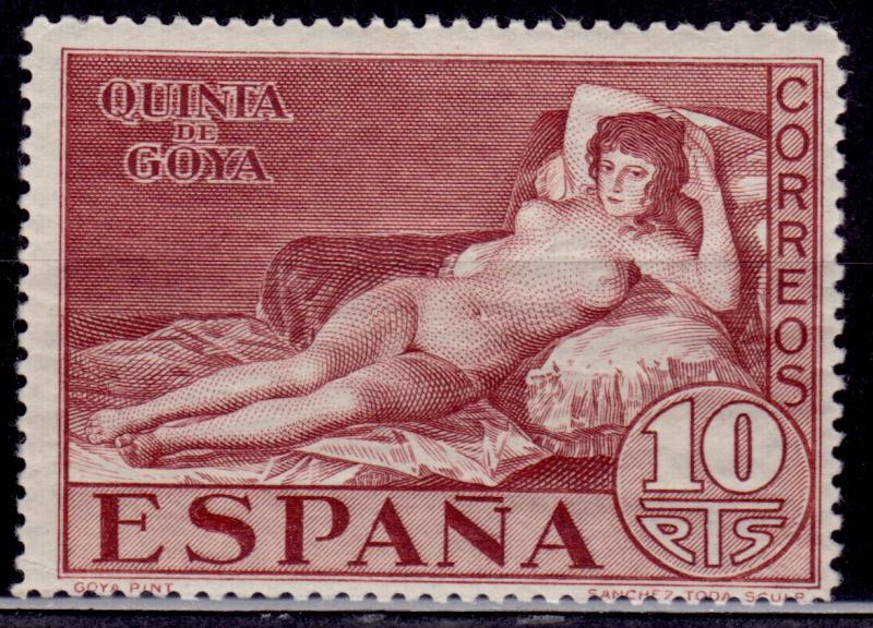 Spain 1930 La Maja Desnuda By Goya 10p Scott 399 Mlh Hipstamp