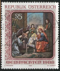 Austria Osterreich Scott 1446 Used 1988 stamp