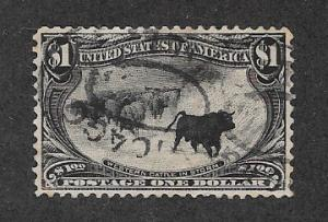 292 Used,  $1 Trans-Mississippi, XF/S, Free Insured Shipping