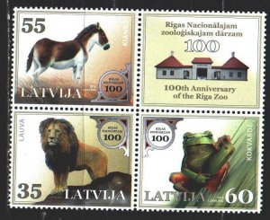 Latvia. 2012. 831-33. Zoo in Riga. MNH.