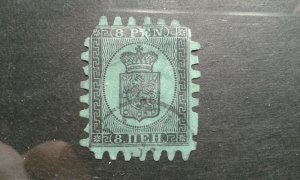 Finland #7 used short perfs thin e201.6568
