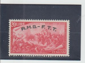 Trieste  Scott#  26  MH  (1948 Overprinted)