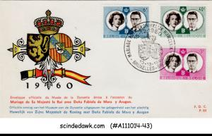 BELGIUM - 1960 ROYAL WEDDING - 3V-  FDC