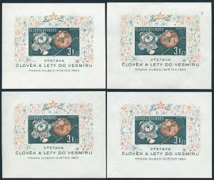 Czechoslovakia 1175 collection/12 types,MNH. Space Research 1963.1st exhibition.