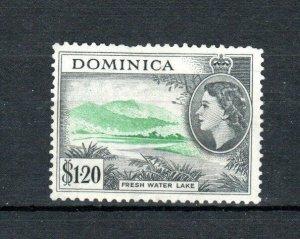 Dominica 1954-62 $1.20 Fresh Water Lake UN (no gum)