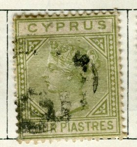 CYPRUS; 1892 classic QV Crown CA issue fine used 4Pi. value