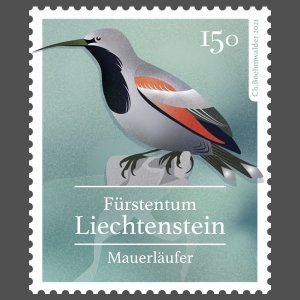 Stamps Of Liechtenstein 2021 - Native Songbirds.(3)