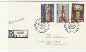 Cyprus 1976 Registered Double CEPT Cancels FDC Europa Stamps Cover Ref 27652