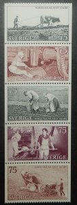 Sweden 1010-14. 1973 Nordic Museum Centenary, NH