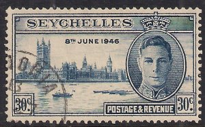 Seychelles 1946 KGV1 30ct Victory used SG 151 ( 196 )