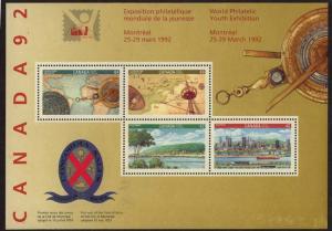 Canada - Canada 92 Souvenir Sheet mint #1407a