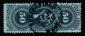 US, Sc R55c, used, Springfield Mass 1870 handstamp cancel (sm thin)