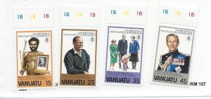 Vanuatu, 304-07, Duke of Edinburgh's - 60th Bday Singles,MNH