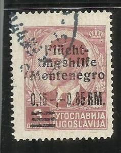 MONTENEGRO 1944 OCCUPAZIONE TEDESCA SOPRASTAMPATO MARCHI TEDESCHI  0,15 + 0,8...