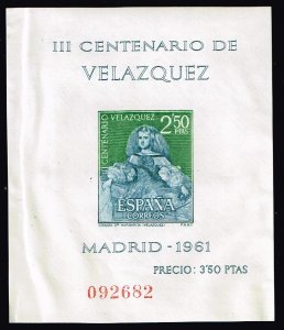 SPAIN STAMP 1961 300th Anniversary of the Death of Diego Rodriguez MNH  CREASE