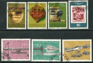 LIECHTENSTEIN Sc#687-693 1980 Three Complete Sets Used