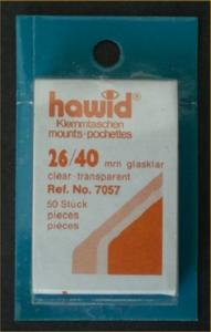Hawid Stamp Mounts Size 26/40 CLEAR Background Pack of 50