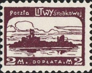 CENTRAL LITHUANIA / MITTELLITAUEN - 1921 Mi.P.3.A 2M Mint* - ref.916f