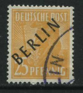 Germany overprinted BERLIN 25 pf yellow orange used