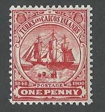 Turks and Caicos  Islands gum has a light tone mnh S.C. 11