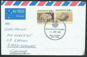 AUSTRALIA 1995 cover to Germany - nice franking - Sydney Pictorial pmk.....47297