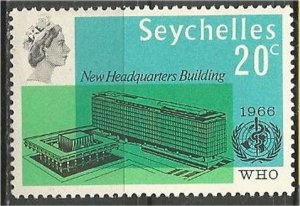 SEYCHELLES, 1966, MNH 20c, WHO Scott 228