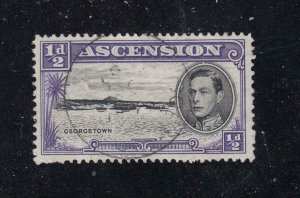 ASCENSION SG # 38bb VF-LU VARIETY ERROR LARGE E IN GEORGETOWN CV £160 or $203