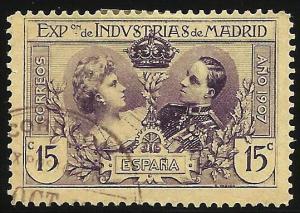 Spain 1907 Madrid Indus Exhib Edifil SR2 Used