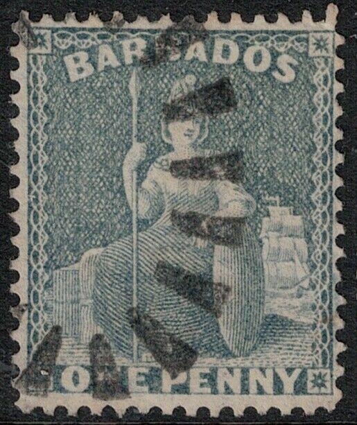 Barbados 1859 SC 11 Used SCV $175.00