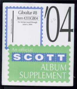 2004 Gibraltar #8 Scott Stamp Album Collection Supplement Pages Item #203GB04