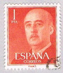 Spain 825 Used General Franco 1954 (BP24114)