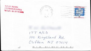 US O153 Cover - Nutley, NJ to Clifton, NJ - 1995
