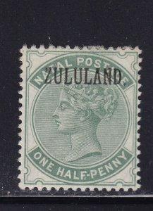 Zululand Scott # 12 VF OG lightly hinged nice color cv $ 30 ! see pic !