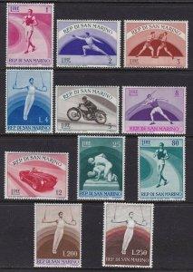 1954-55 San Marino, N° 409/418 + A Series Di 11 Values MNH